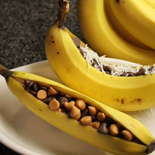 Chocolate and Coconut Bananas