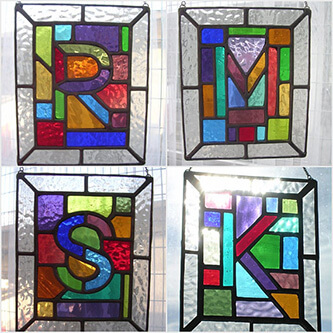 Hanging Stained Glass Letter Accessories