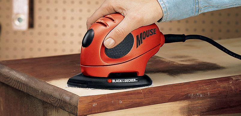 Mouse Sander Removing Polish From Table