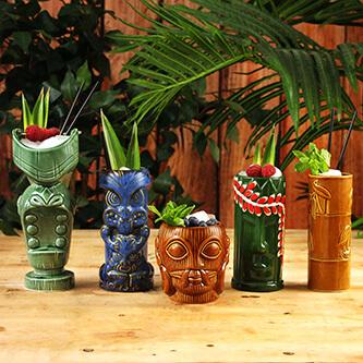 Tiki Tiki Cocktail Glasses