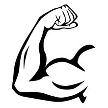 Cartoon Male Arm Flexing
