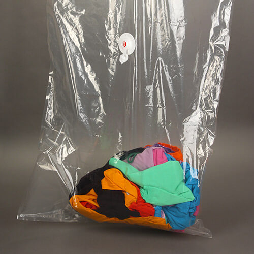 Clothes In Plastic Vacuum Bag