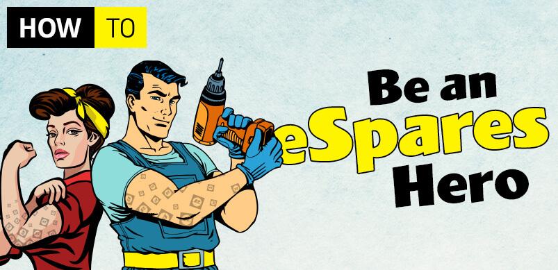 eSpares Heroes Graphic Header