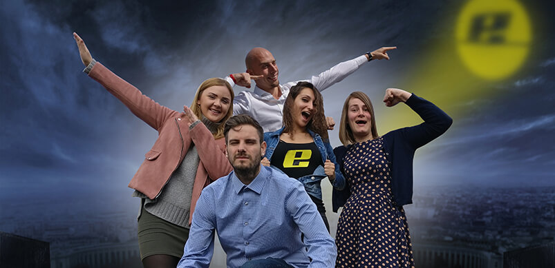 Photo Of Team On Heroic Background