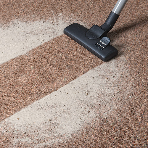 Vacuum Cleaning Baking Soda Off Carpet