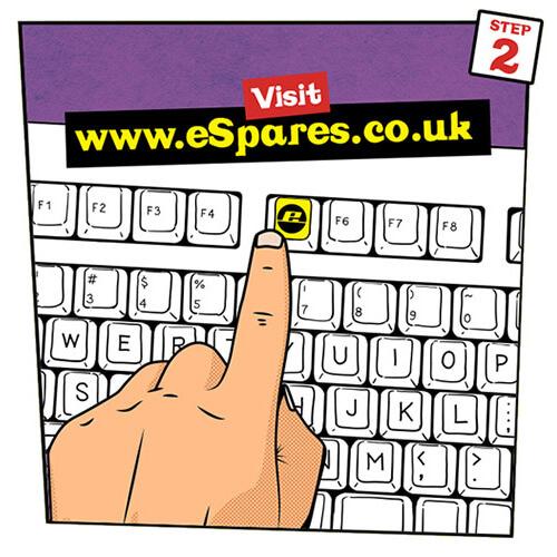eSpares Website Step Two
