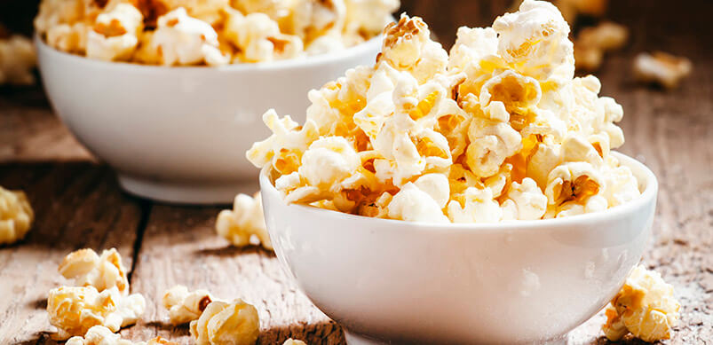 Bowls Of Butter Popcorn