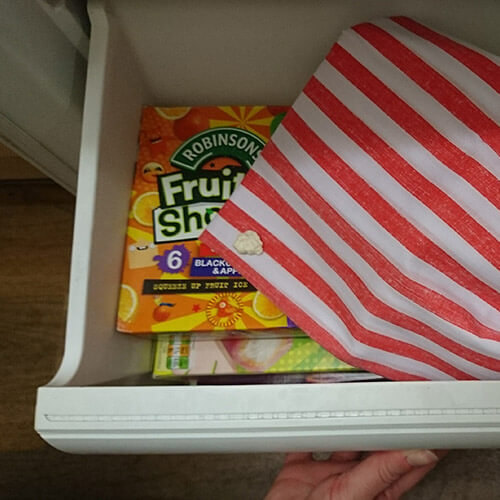 Clothing With Chewing Gum In Freezer