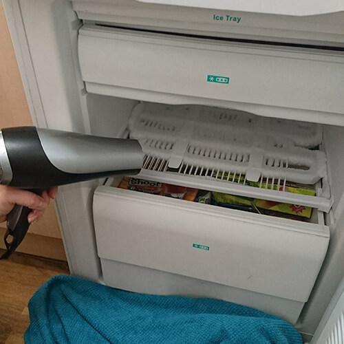 Defrosting Freezer With Hairdryer