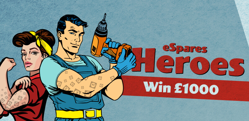Heroes Win £1000 Competition Banner