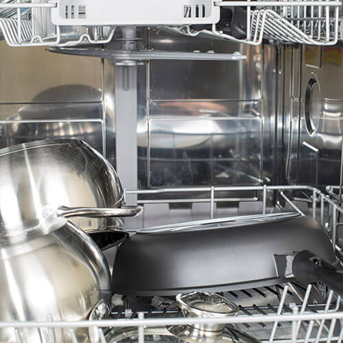 Pans Drying In Dishwasher