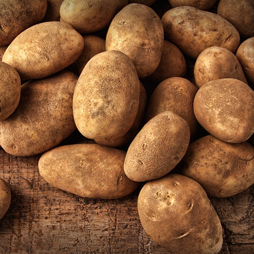 Pile Of Muddy Potatoes