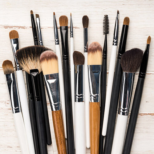 Selection Of Make Up Brushes