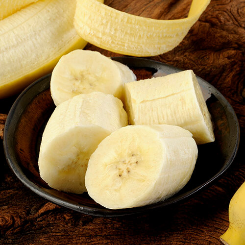 Sliced Banana In Bowl