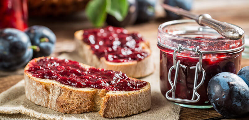 Toast And Plum Jam