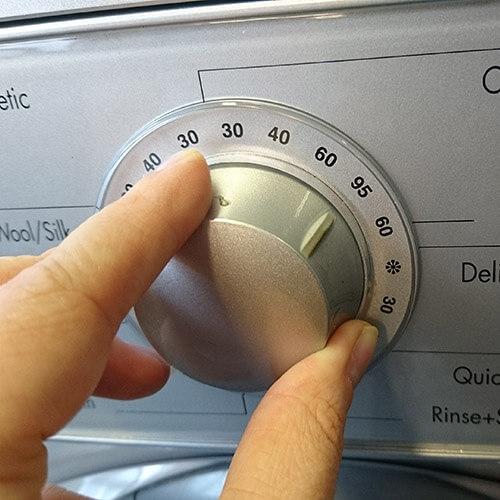 Turning Washing Machine Up To Hot Wash Temperature