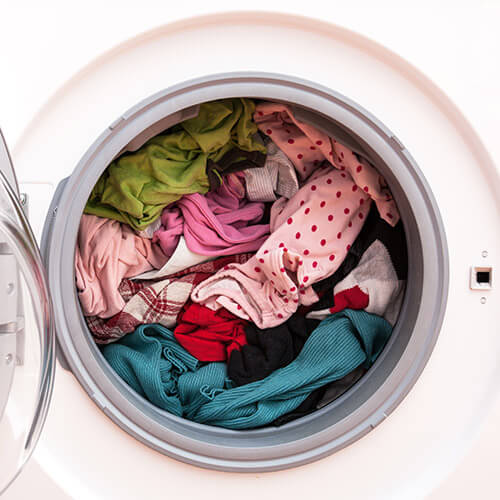 Washing In Washing Machine