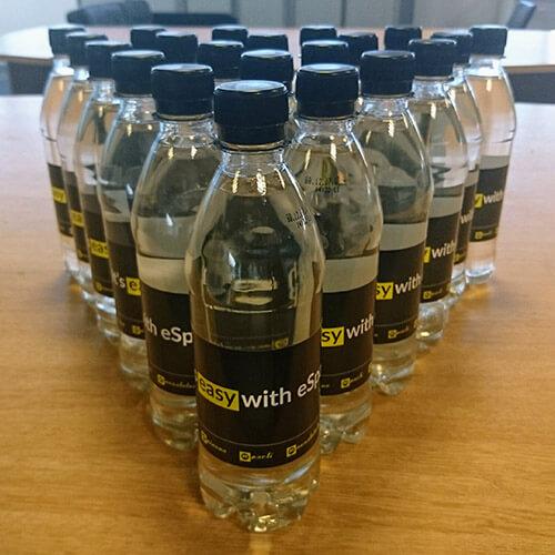 eSpares Water Bottles On Desk