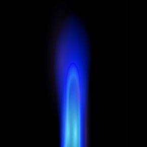 Blue Gas Appliance Flame