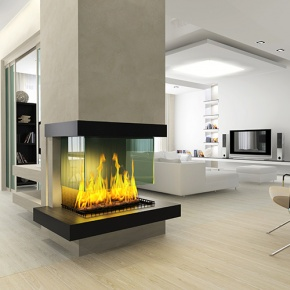 Gas Fire In Modern Home