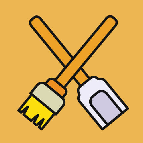 Simple Graphic Of Cleaning Tools