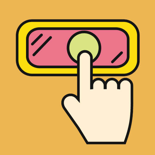 Simple Graphic Of Finger Pressing Button