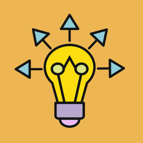 Simple Graphic Of Lightbulb