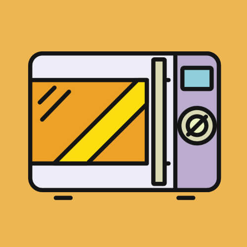 Simple Graphic Of Microwave