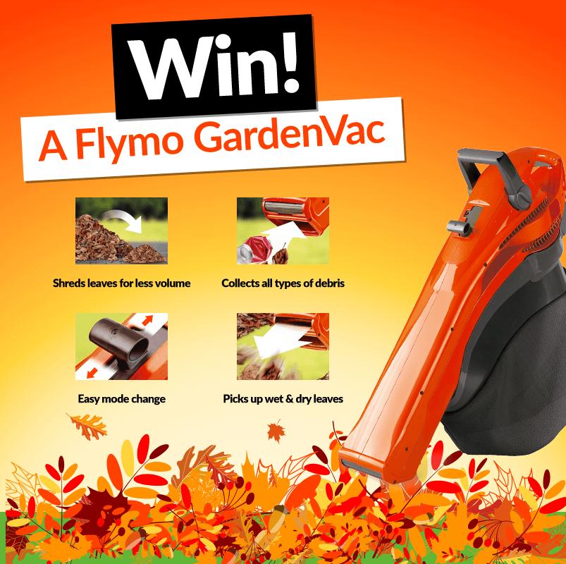 Win a Flymo 4 in 1 Garden Vac