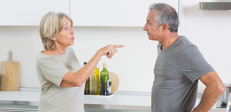 Woman Arguing With Man In Kitchen