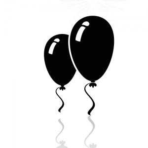 Black And White Balloon Symbols