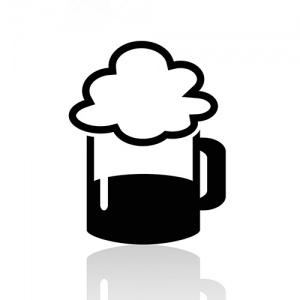 Black And White Beer Symbol