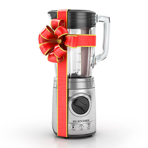 Silver Blender In Red Ribbon