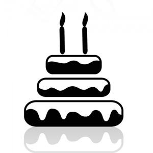Black and White Cake Symbol
