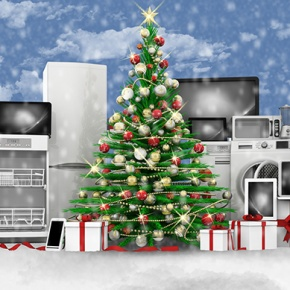 Christmas Tree Surrounded By Appliances