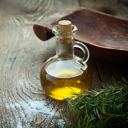 Glass Bottle Of Vegetable Oil