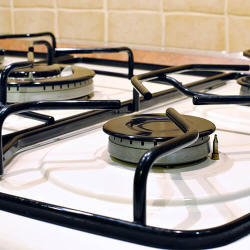 Gas Oven Hobs On White Oven