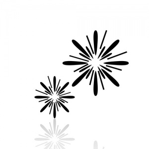 Black And White Sparklers Symbol