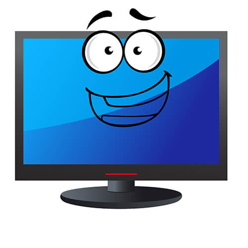 Cartoon Television Screen With Smiley Face