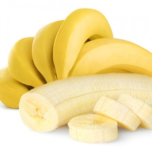 Bunch Of Bananas and Sliced Banana In Front