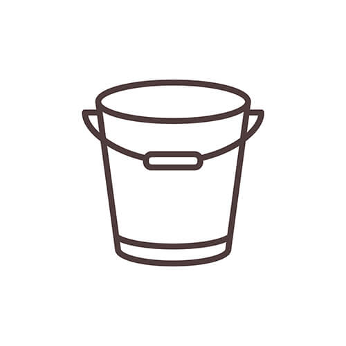 Black And White Bucket Icon