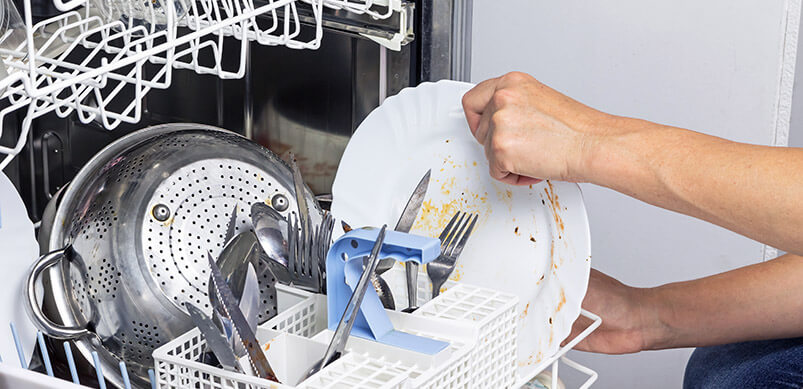 Dirty Dishes Inside Dishwasher