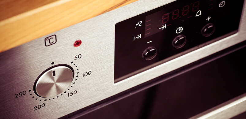 Close-up Of Electric Oven Display
