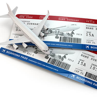Boarding Pass With Toy Aeroplane