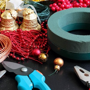 Christmas Decorations With Pliers and Tape