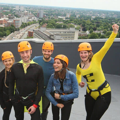 Group Ready To Abseil