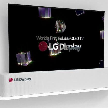 LG 65 Inch Rollable OLED TV Screen