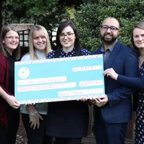 Charity Committee Presenting 2017 Cheque