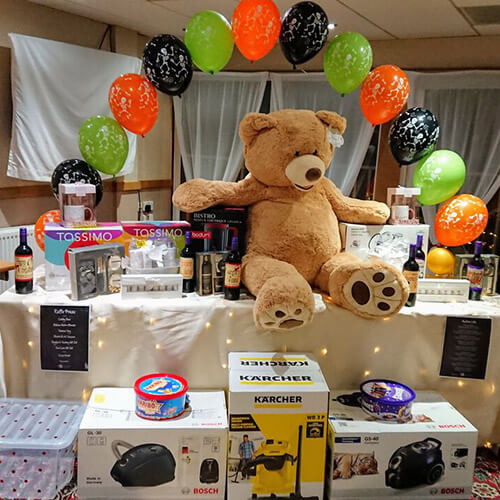 Table Of Prizes At Raffle