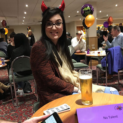 Team Member Dressed Up At Pub Quiz